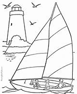 Coloring Pages Boat Sail Boats Printable sketch template