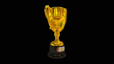animated gold trophy spinning  stock footage video