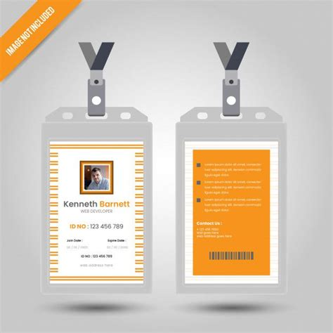 yellow id card  images identity card design cards