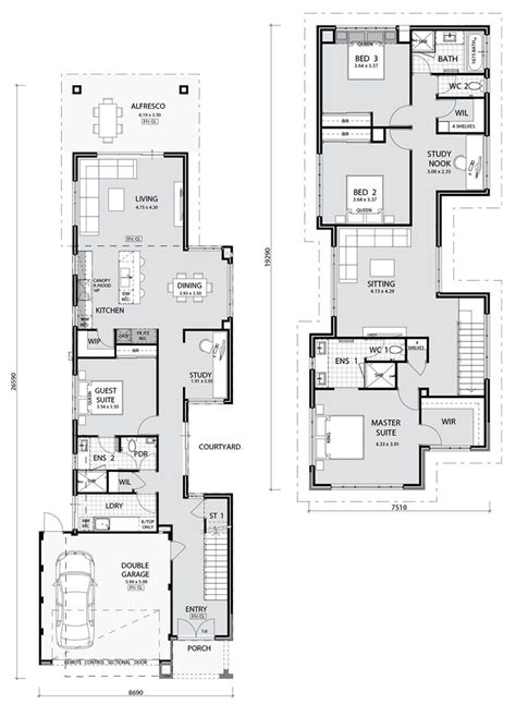Narrow Home Plans by Cambridge Key Features Narrow Lot Living At Its Finest