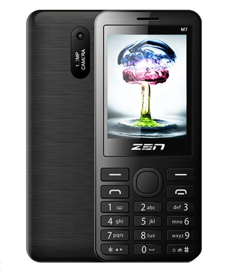 Auto Recording Mobile Phone by Zen M7 Auto Call Recorder Slim Black Mobile Phones
