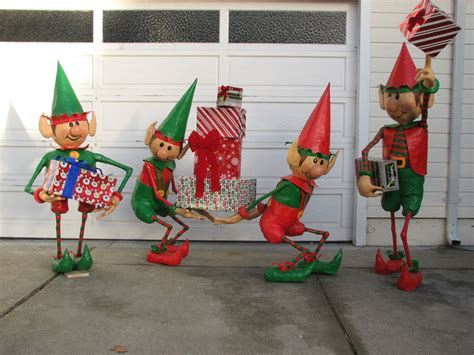 christmas elf yard decorations santas workshop elf decoration ideas