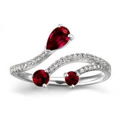 ruby engagement ring ruby and engagement ring on 10k white gold jewelocean