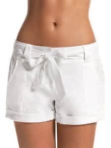Short White Linen Pants Women