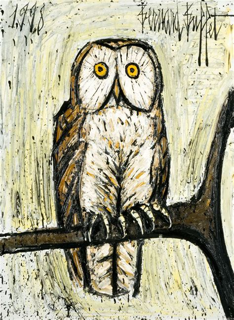 Bernard Buffet French Expressionism Owl Painting