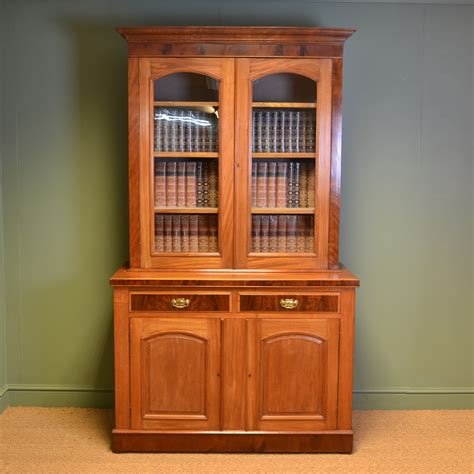 Dresser Bookcase by Mellow Mahogany Antique Bookcase On Cupboard