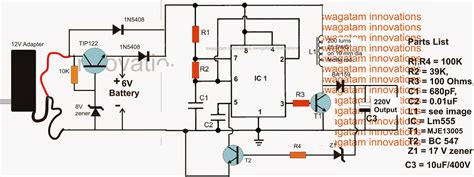220v Schematic Wiring Diagram by 6v To 220v Inverter Circuit Diagram Circuit Diagram Images
