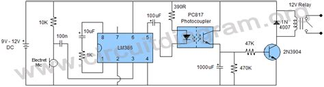 Sound Activated Switch Using Circuit Diagram