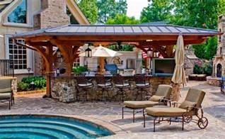 house plans with pools and outdoor kitchens 15 outdoor kitchen designs for a great cooking aura home design lover