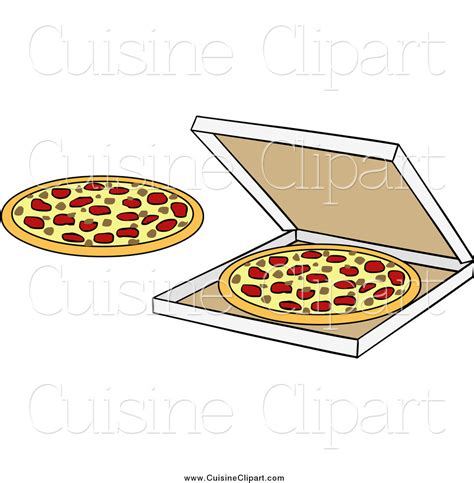 cuisine box cuisine clipart of pizzas and a box by solutions