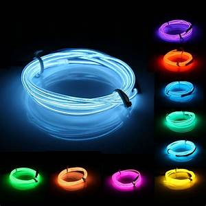 Neon Led 12v : 1m el led flexible soft tube wire neon glow car rope strip light xmas decor dc 12v alex nld ~ Medecine-chirurgie-esthetiques.com Avis de Voitures
