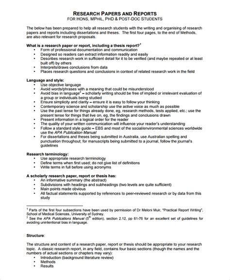 research report templates sample templates