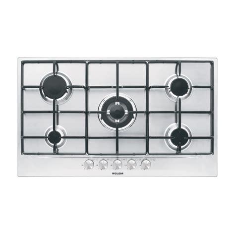 plaque cuisson gaz 90 cm gt955ix gas hob 90 cm cooking products glem gas