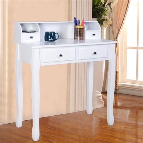 bureau maquillage coiffeuse table de maquillage table de bureau blanche avec