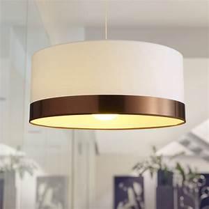 Suspension Luminaire Blanc : suspension contemporain copper coton blanc 1 x 60 w ~ Teatrodelosmanantiales.com Idées de Décoration