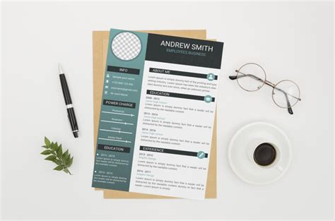 cv mock   white background  psd file