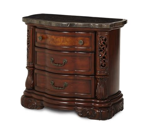 Michael Amini Bedroom Sets by Michael Amini Excelsior Bedroom Furniture Fruitwood Finish