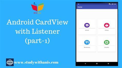 android studio tutorial cardview  material design