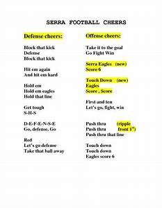Serra Football Cheers By Liuhongmei Cheer Chants