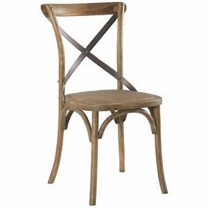 Chaise Bistrot Vintage : chaise bistrot ch ne et fer vieilli gascogne pier import ~ Teatrodelosmanantiales.com Idées de Décoration