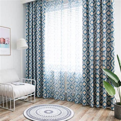 vorhänge im schlafzimmer minimalismus vorhang blau geometrie im schlafzimmer in 2019 gardinen vorh 228 nge schlafzimmer