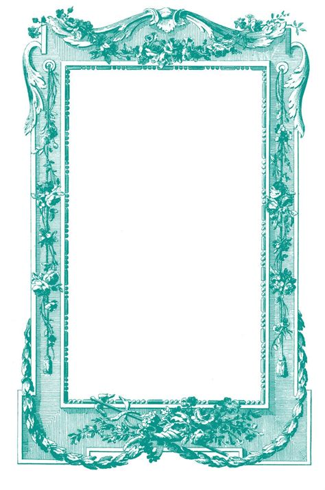 Certificate border template word free frame old templates. Antique Images - Fabulous French Graphic Frames | Printable frames, Frame, Graphics fairy