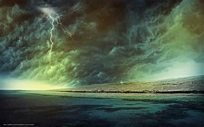 Rain Storm Desktop Lightning Clouds Wallpapersafari