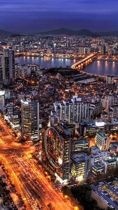 Korea Seoul South Wallpapers Lights Capital Ipad