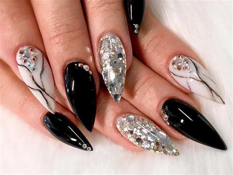 Try Fantastic Black Acrylic Nails | NailDesignsJournal.com