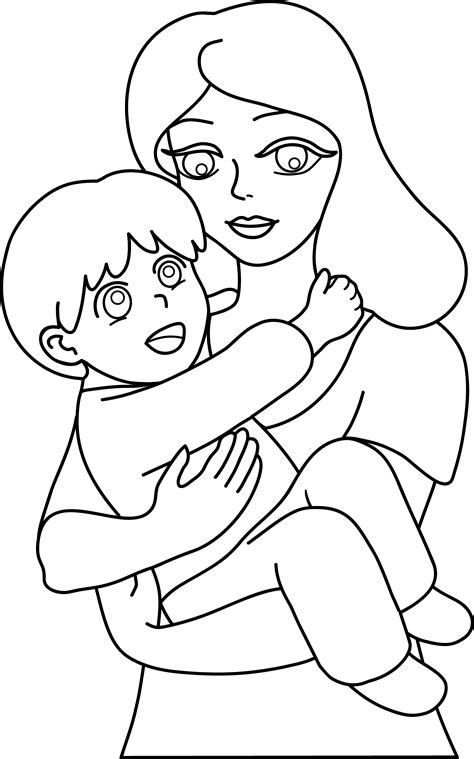 mother  child  art  clip art