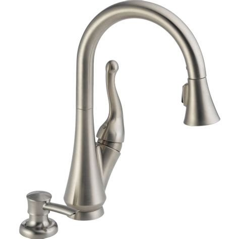 delta stainless steel kitchen faucet delta faucet 16968 sssd dst talbott single handle pull