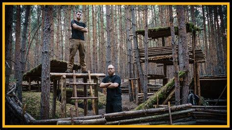 baumhaus ohne baum bushcraft c s04 e10 baumhaus ohne baum lagerbau outdoor shelter