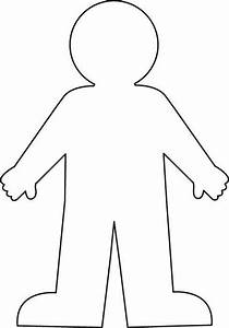worksheet with a blank body outline google search With person template preschool