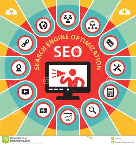 seo lookup seo search engine optimization infographic concept 4