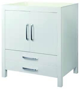 decolav 5222 wht cameron vanity without top in white traditional bathroom vanities and sink