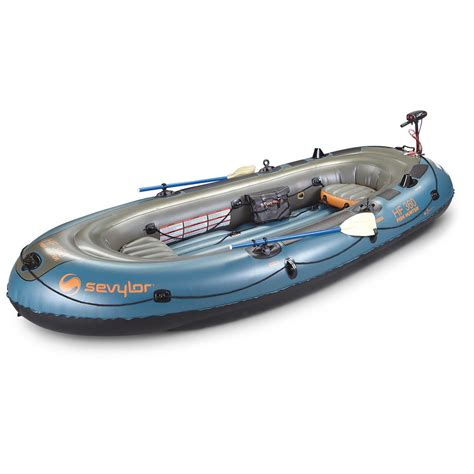 Inflatable Boat Fish Hunter by Sevylor Fish Hunter Inflatable Boat Kit 206714 Small