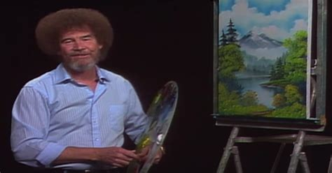 Bob Ross' Famous Hair Was The Result