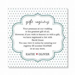 11 best images about wedding gift registry on pinterest With wedding gift registry message