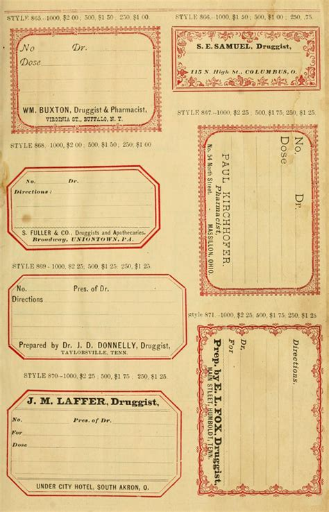 sample book  vintage druggists labels worldlabel blog
