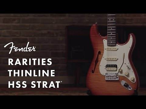Rarities Flame Maple Top Stratocaster HSS Thinline | Rarities Collection | Fender