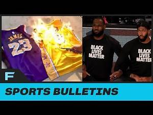 Laker Fan PISSED At Players Kneeling Burned His AD Lebron Jerseys