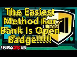 NBA 2k16 How To Get Bank Is Open Badge Easy (In 1 Game)