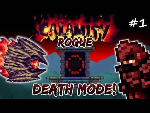 Calamity DEATH MODE Rogue Let's Play #1 | Terraria Modded Rogue Class Playthrough
