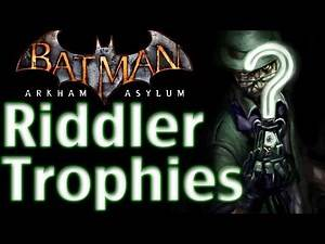 Batman Arkham Asylum - Walkthrough - Part 29 - Riddler Trophies - Road To Arkham Knight