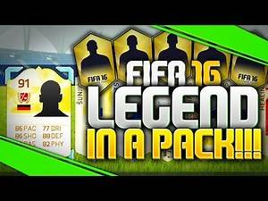 FIFA 16 LEGEND IN A PACK! 91 RATED BEAST! (FIFA 16 INSANE PACK OPENING)
