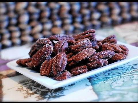 Homemade Candied Pecans ~ Sugar Free Recipe