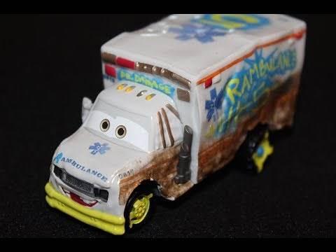 Mattel Disney Cars 3 Dr. Damage (Demolition Derby Ambulance) Die-cast