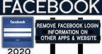 How to check and remove Facebook Login info from other apps and website in facebook 2020