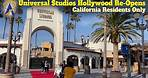 Universal Studios Hollywood Re-Opens for California Residents
