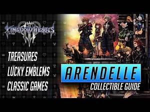 Kingdom Hearts 3 - Arendelle Collectible Guide - All Treasures, Lucky Emblems and Classic Games